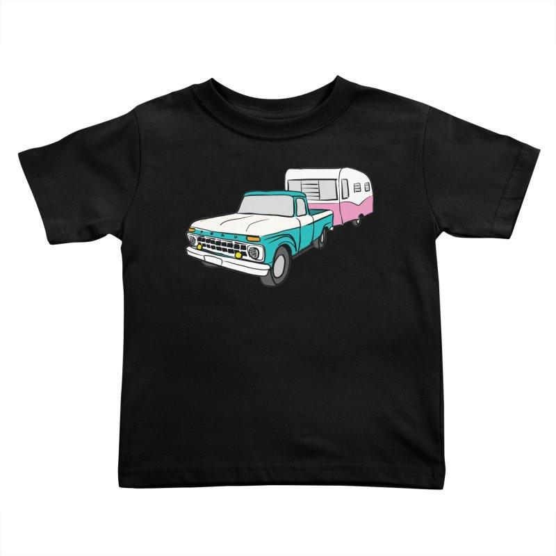 Travel trailer Kids Toddler T-Shirt by Vintage 55 Restorations