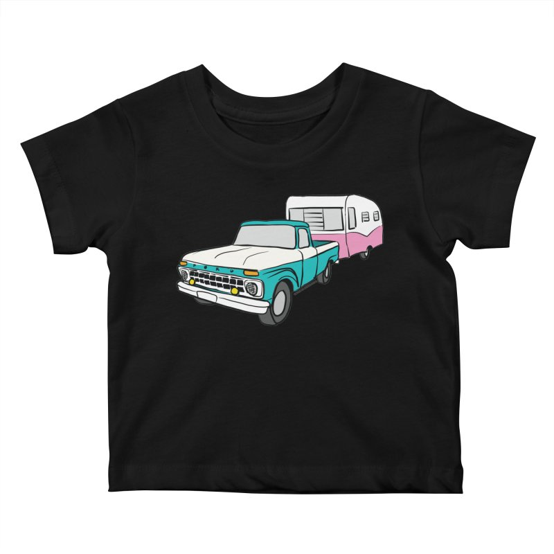 Travel trailer Kids Baby T-Shirt by Vintage 55 Restorations
