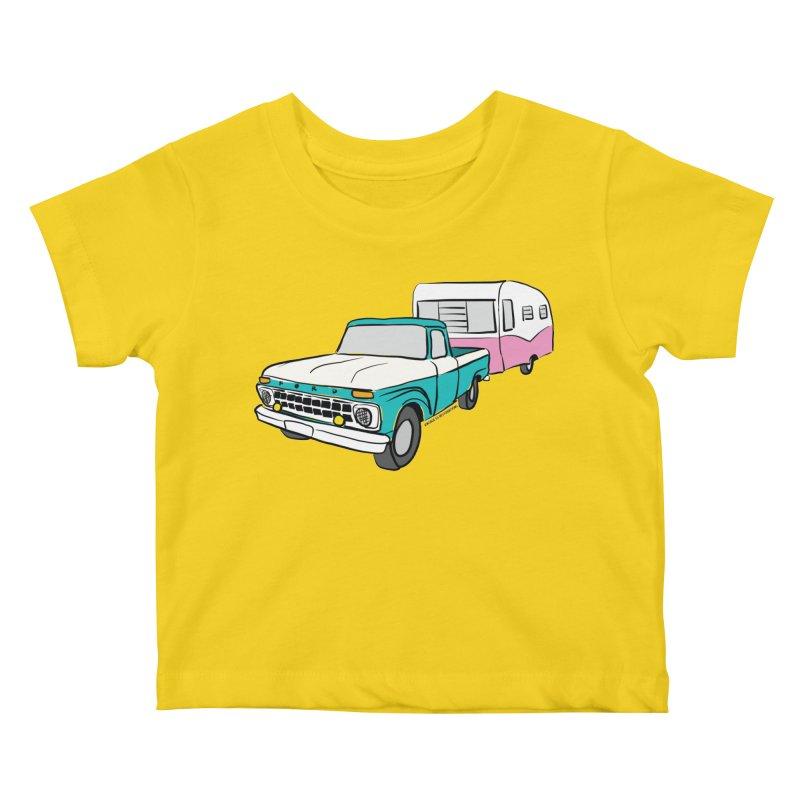 Travel trailer Kids Baby T-Shirt by Vintage 55 Restorations