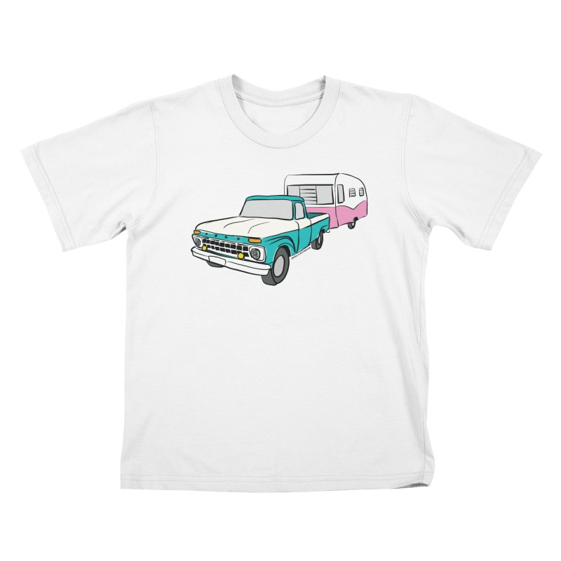 Travel trailer Kids T-Shirt by Vintage 55 Restorations