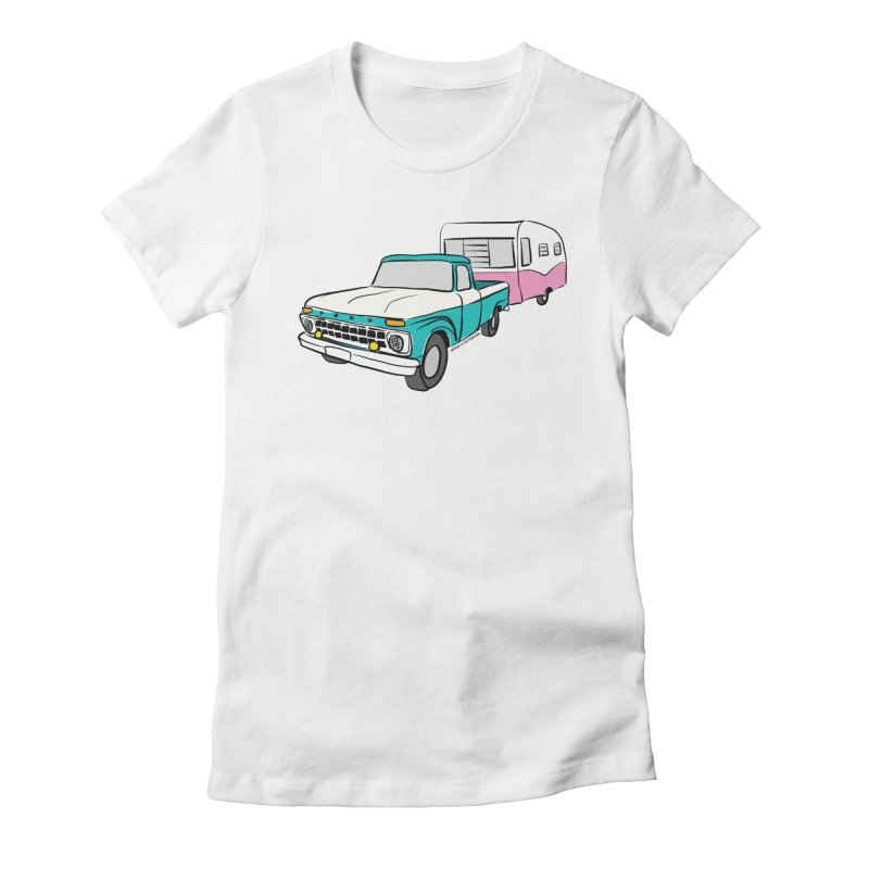 Travel trailer Women's Fitted T-Shirt by Vintage 55 Restorations