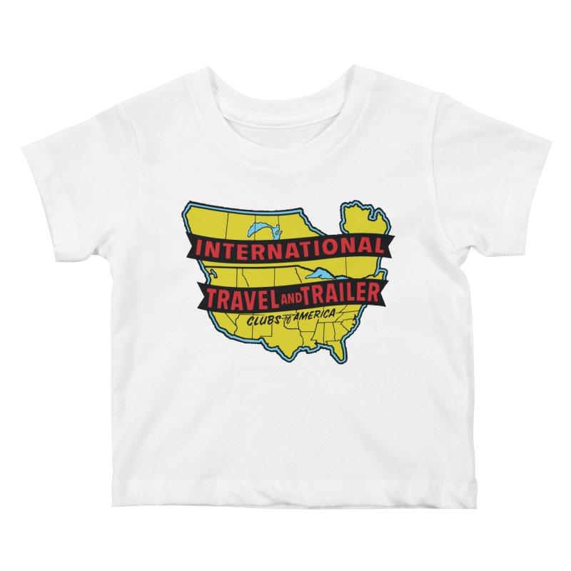 Vintage travel trailer club Kids Baby T-Shirt by Vintage 55 Restorations