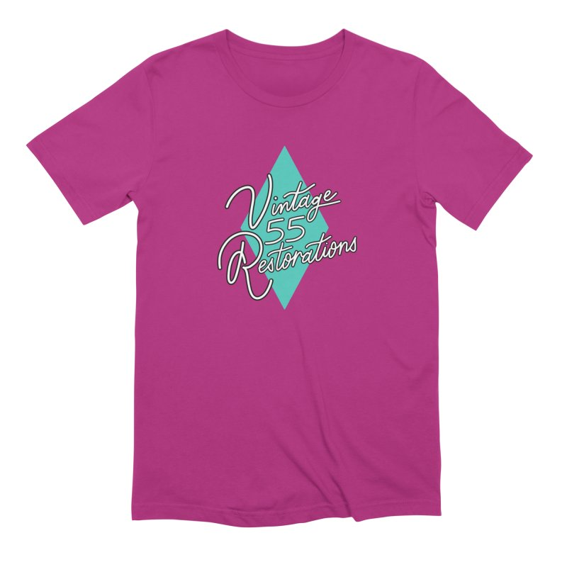 Single diamond logo Men's T-Shirt by Vintage 55 Restorations