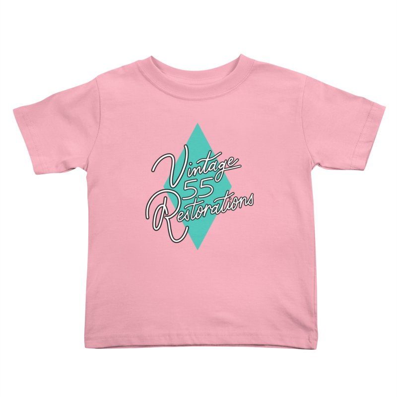 Single diamond logo Kids Toddler T-Shirt by Vintage 55 Restorations