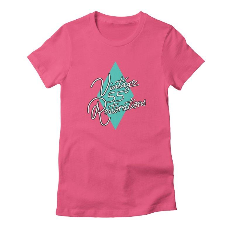 Single diamond logo Women's T-Shirt by Vintage 55 Restorations