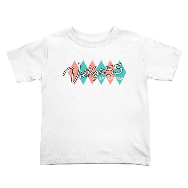Diamond Logo on Black Kids Toddler T-Shirt by Vintage 55 Restorations