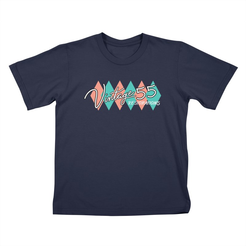 Diamond Logo on Black Kids T-Shirt by Vintage 55 Restorations