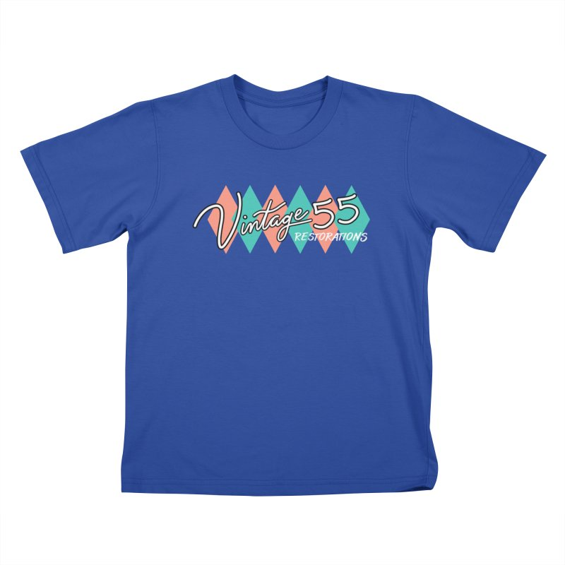 Diamond Logo on Black Kids T-Shirt by Vintage 55 Restorations