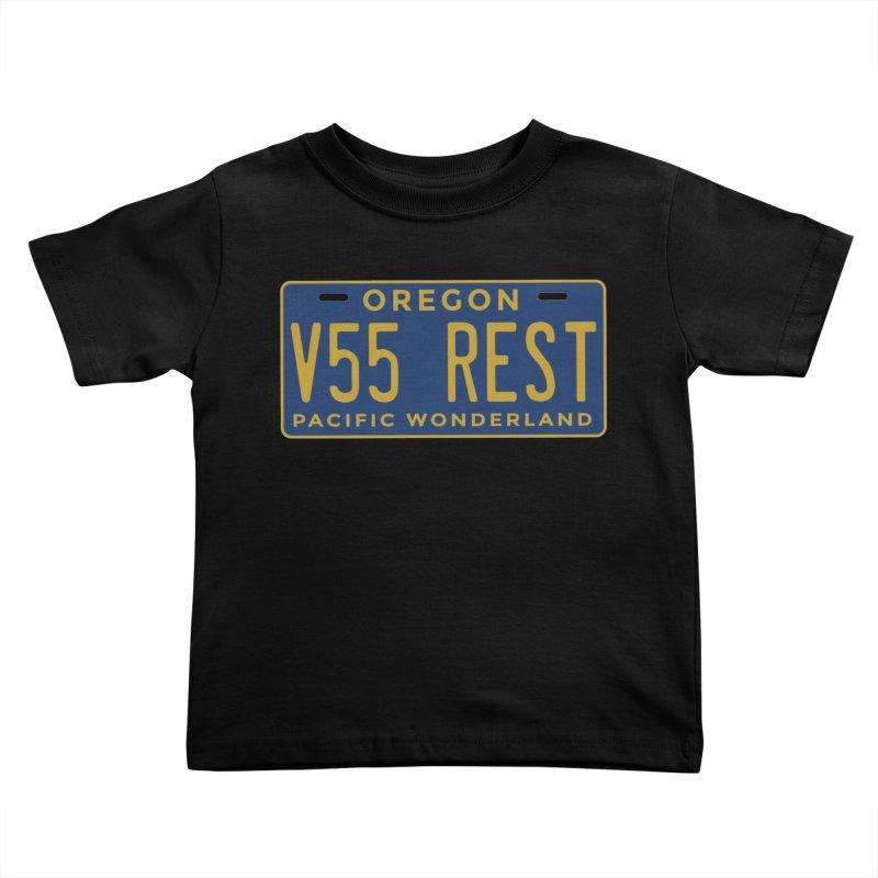 Oregon license plate Kids Toddler T-Shirt by Vintage 55 Restorations