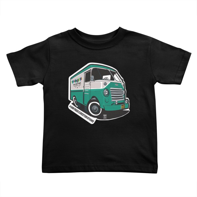 Grumman Olson shop van Kids Toddler T-Shirt by Vintage 55 Restorations