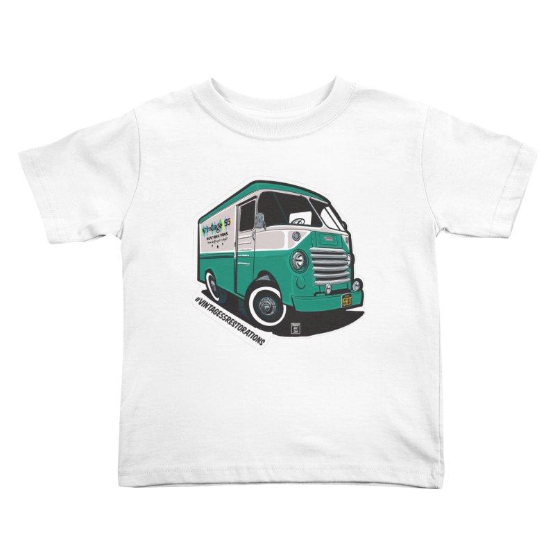 Grumman Olson shop van Kids Toddler T-Shirt by Vintage 55 Restorations