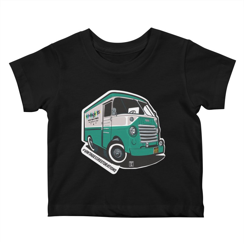 Grumman Olson shop van Kids Baby T-Shirt by Vintage 55 Restorations