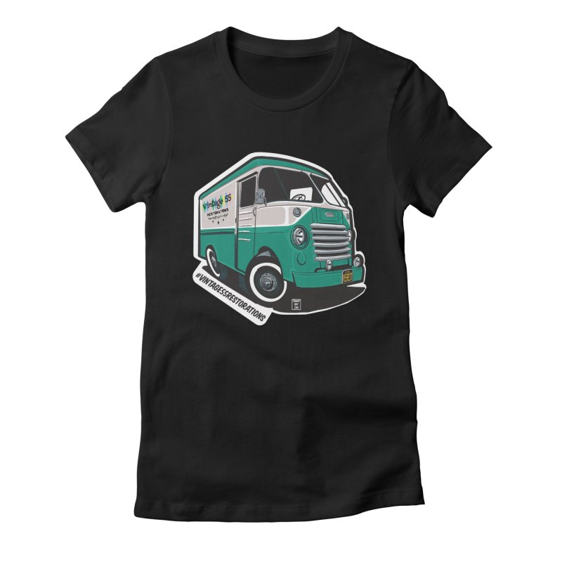 Grumman Olson shop van Women's T-Shirt by Vintage 55 Restorations