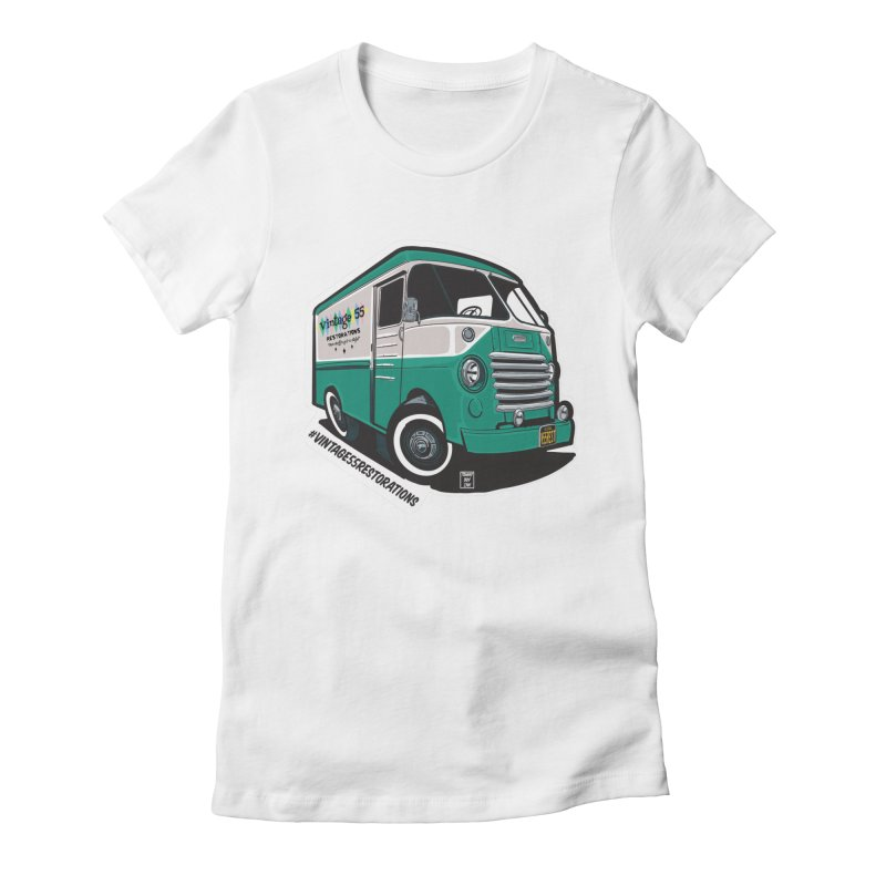 Grumman Olson shop van Women's T-Shirt by Vintage 55 Restorations