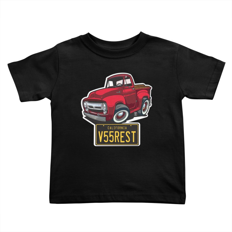 F-100 Kids Toddler T-Shirt by Vintage 55 Restorations