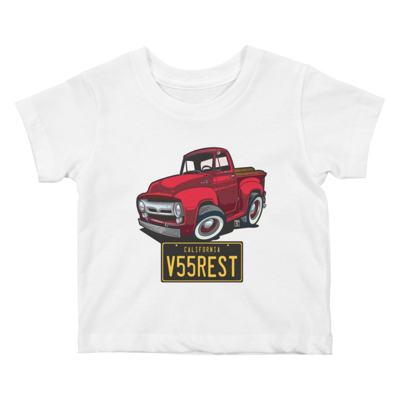 F-100 Kids Baby T-Shirt by Vintage 55 Restorations
