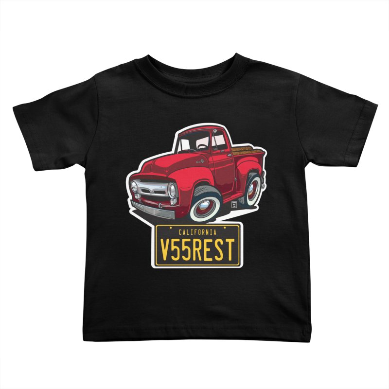F-100 Kids Toddler T-Shirt by Vintage 55 Restorations