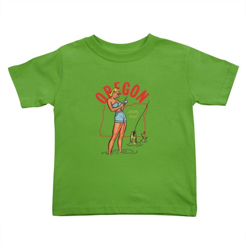 Oregon pinup Kids Toddler T-Shirt by Vintage 55 Restorations