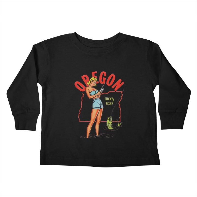 Oregon pinup Kids Toddler Longsleeve T-Shirt by Vintage 55 Restorations