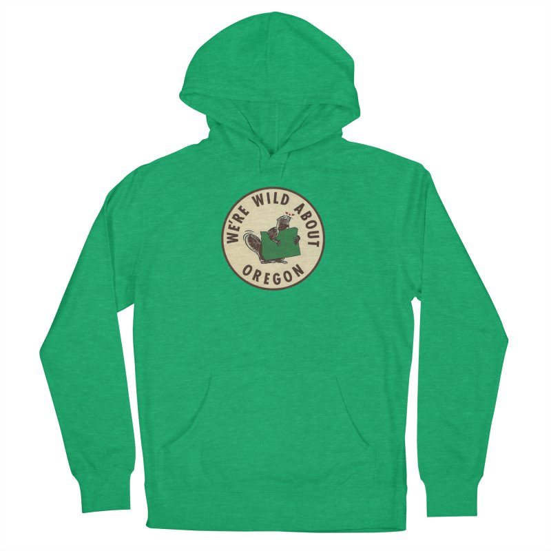 Wild About Oregon Beaver Men's Pullover Hoody by Vintage 55 Restorations