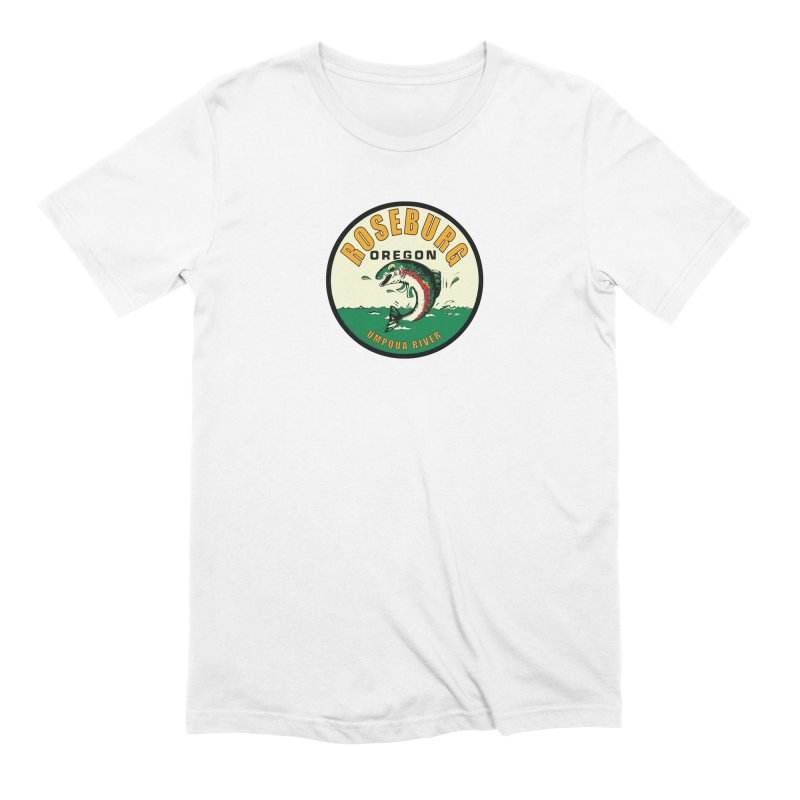 Roseburg Trout Men's T-Shirt by Vintage 55 Restorations