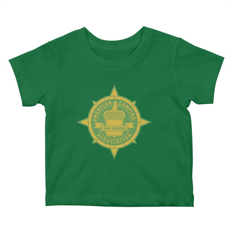 American Camping association badge Kids Baby T-Shirt by Vintage 55 Restorations