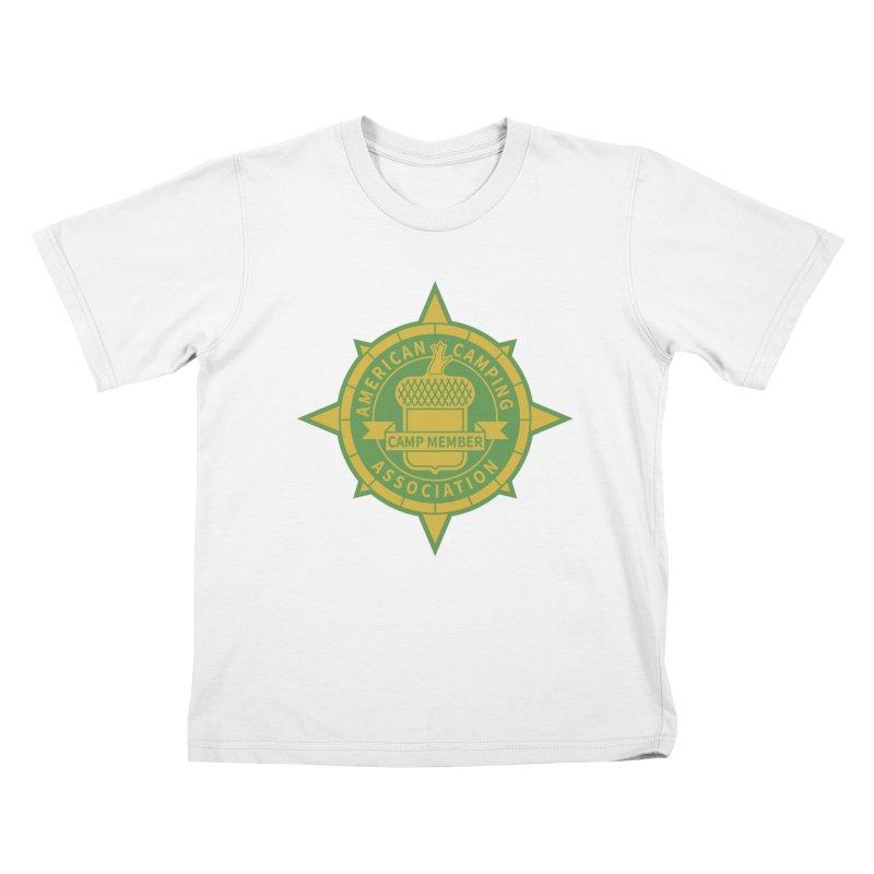 American Camping association badge Kids T-Shirt by Vintage 55 Restorations