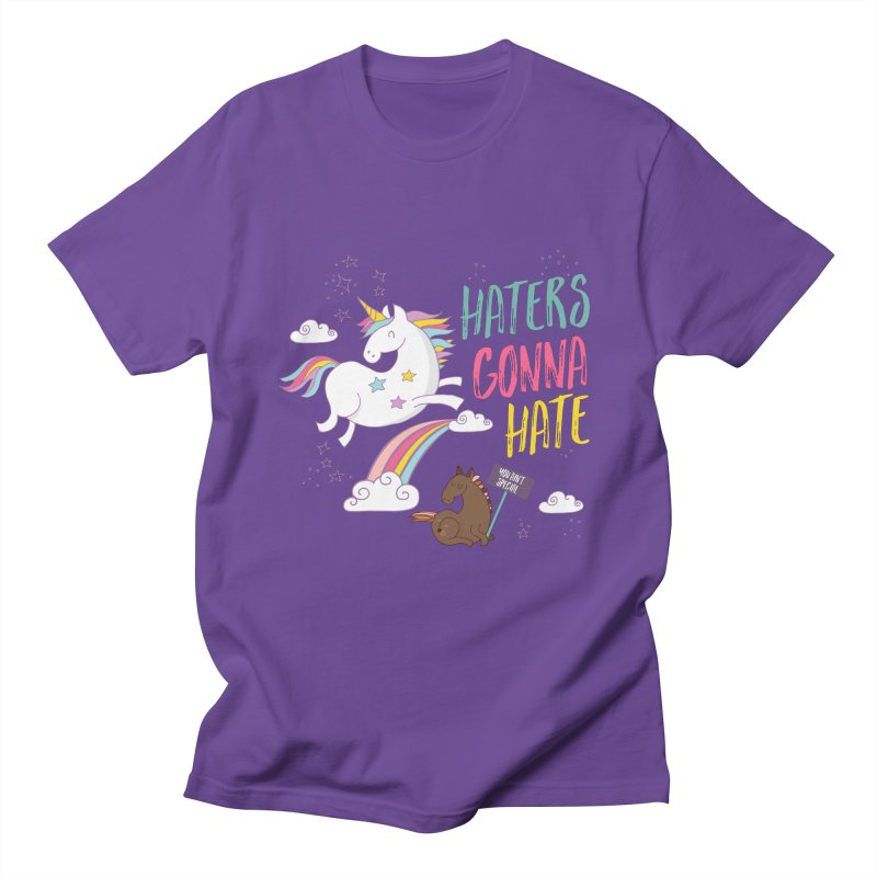 Haters Gonna Hate Men's Regular T-Shirt by Vintage Pop Tee's Artist Shop