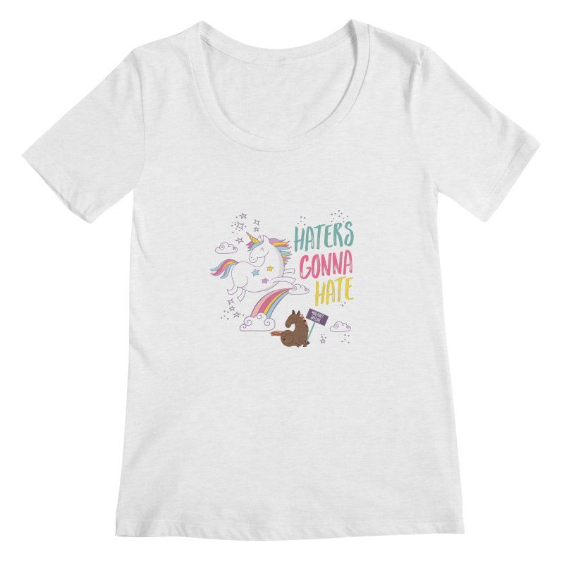 Haters Gonna Hate Women's Scoopneck by Vintage Pop Tee's Artist Shop