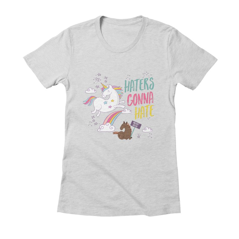 Haters Gonna Hate Women's Fitted T-Shirt by Vintage Pop Tee's Artist Shop