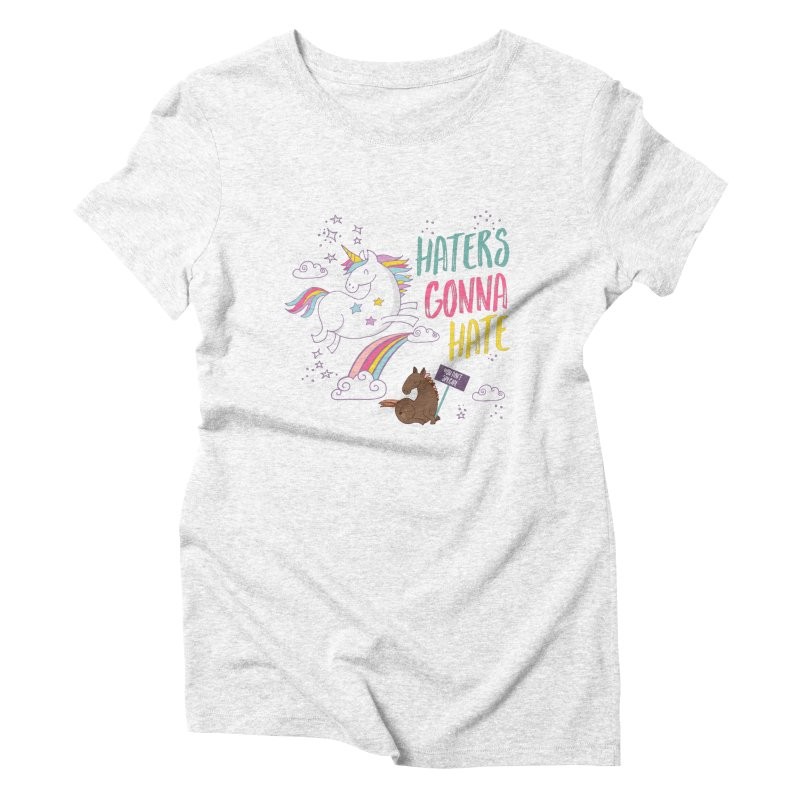 Haters Gonna Hate Women's Triblend T-shirt by Vintage Pop Tee's Artist Shop