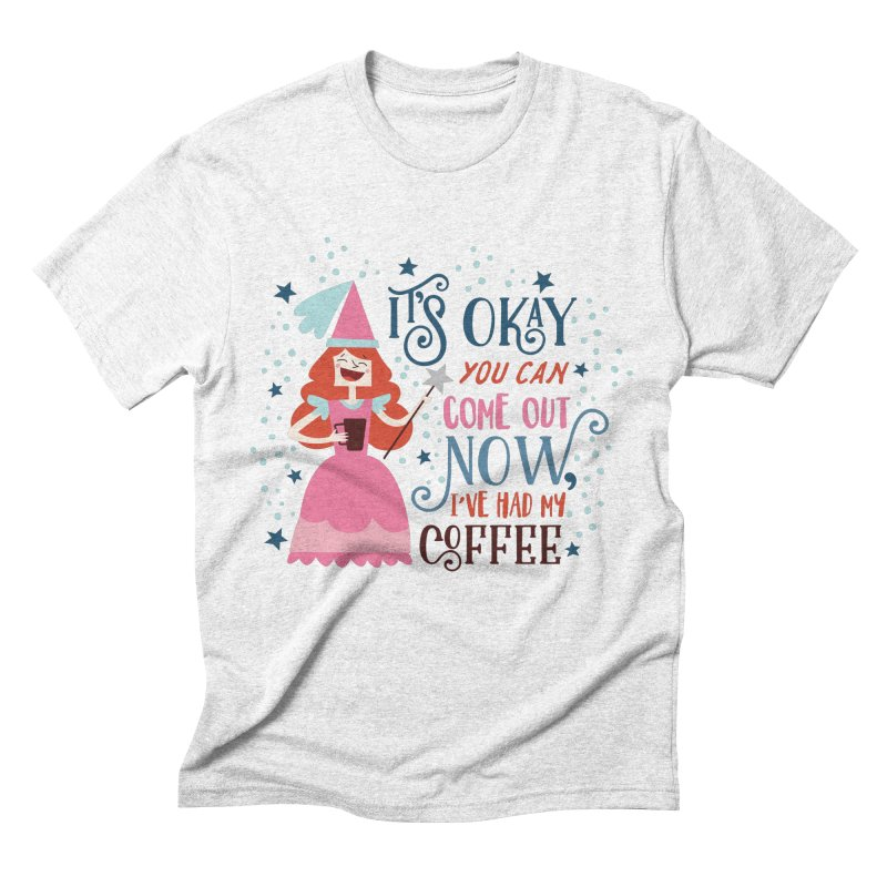 Coffee Princess Men's Triblend T-shirt by Vintage Pop Tee's Artist Shop