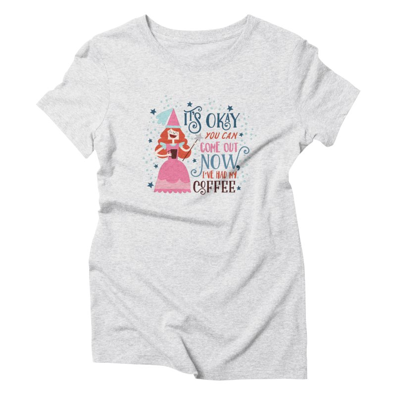Coffee Princess Women's Triblend T-Shirt by Vintage Pop Tee's Artist Shop