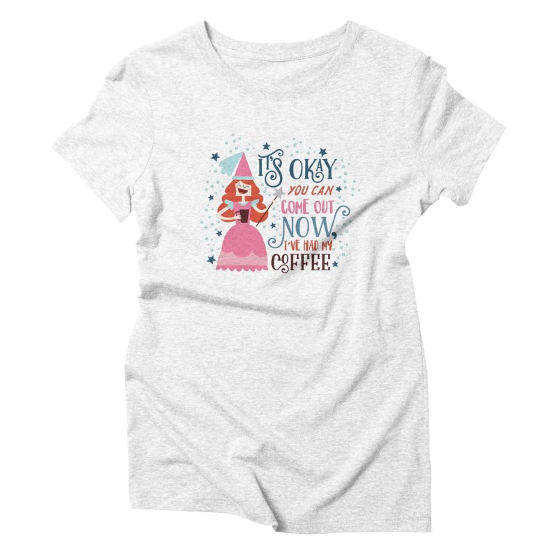 Coffee Princess Women's Triblend T-shirt by Vintage Pop Tee's Artist Shop