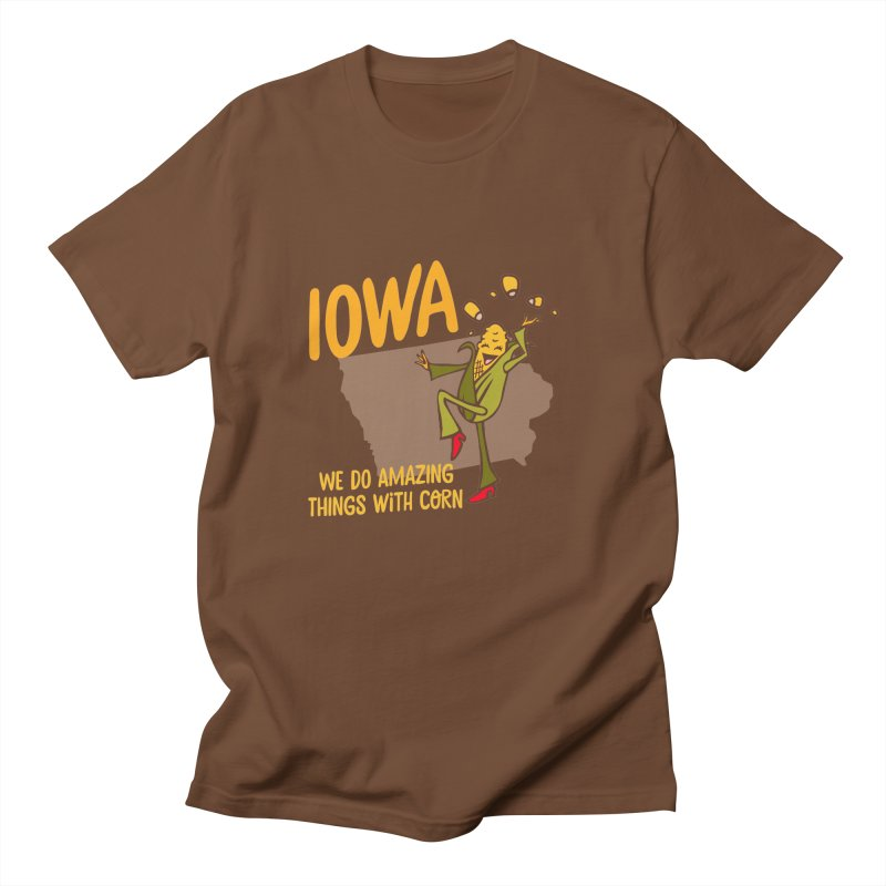 Iowa: We Do Amazing Things With Corn Men's Regular T-Shirt by Vintage Pop Tee's Artist Shop