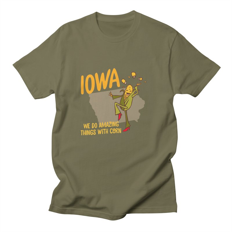 Iowa: We Do Amazing Things With Corn Men's T-Shirt by Vintage Pop Tee's Artist Shop