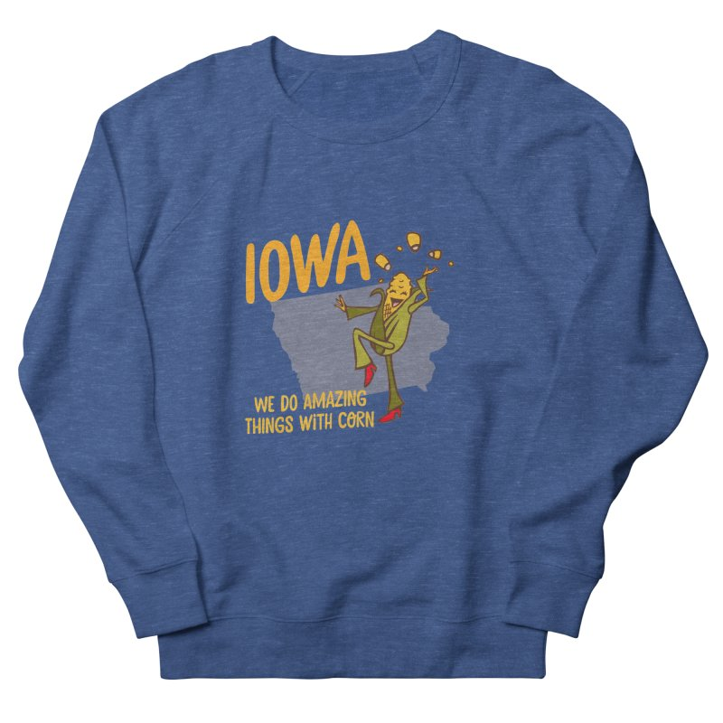 Iowa: We Do Amazing Things With Corn Men's Sweatshirt by Vintage Pop Tee's Artist Shop