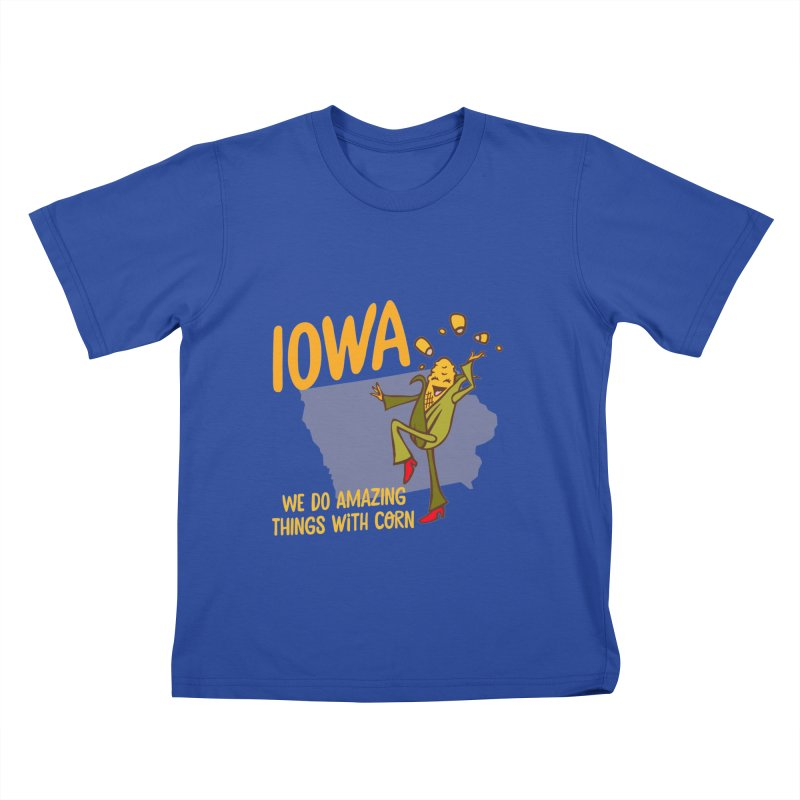 Iowa: We Do Amazing Things With Corn Kids T-shirt by Vintage Pop Tee's Artist Shop