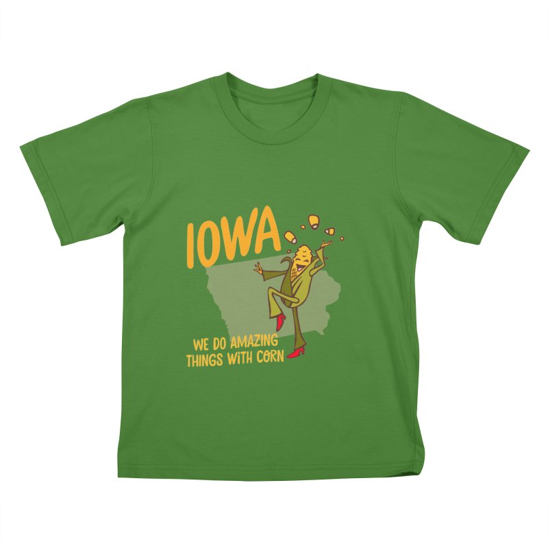 Iowa: We Do Amazing Things With Corn Kids  by Vintage Pop Tee's Artist Shop