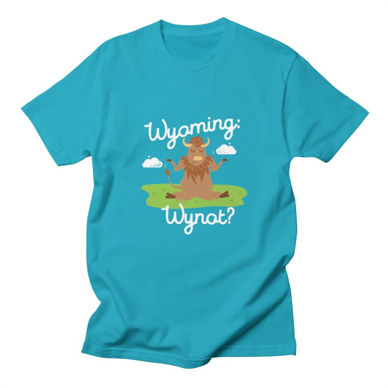 Wyoming: Whynot? Men's  by Vintage Pop Tee's Artist Shop