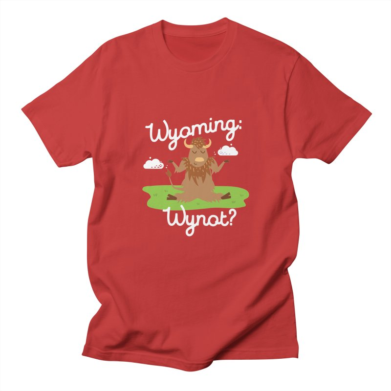 Wyoming: Whynot? Men's T-shirt by Vintage Pop Tee's Artist Shop
