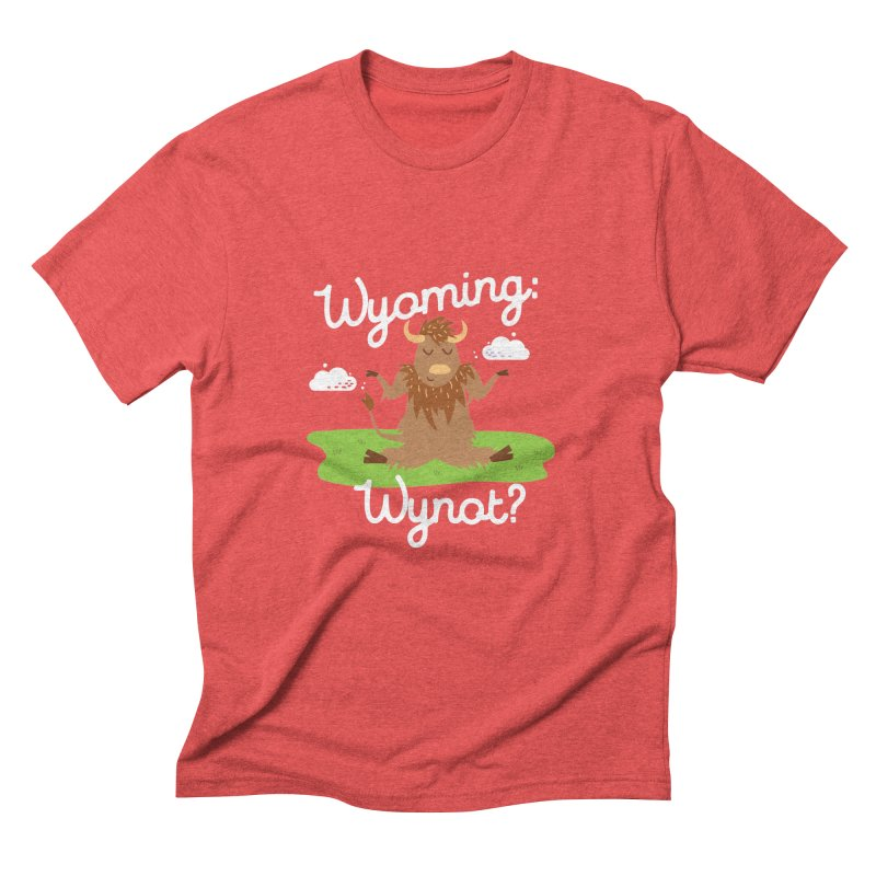 Wyoming: Whynot? Men's Triblend T-shirt by Vintage Pop Tee's Artist Shop