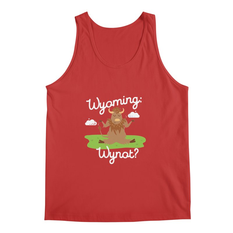 Wyoming: Whynot? Men's Tank by Vintage Pop Tee's Artist Shop
