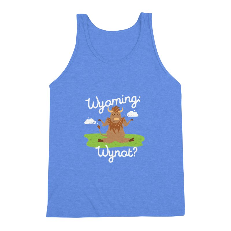Wyoming: Whynot? Men's Triblend Tank by Vintage Pop Tee's Artist Shop