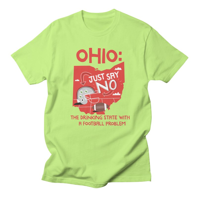 Ohio: The Drinking State With A Football Problem Men's Regular T-Shirt by Vintage Pop Tee's Artist Shop