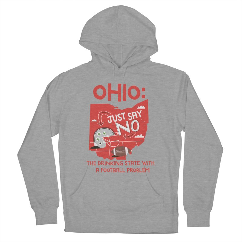 Ohio: The Drinking State With A Football Problem Men's Pullover Hoody by Vintage Pop Tee's Artist Shop
