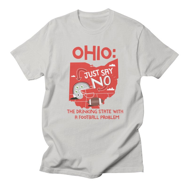 Ohio: The Drinking State With A Football Problem Men's T-Shirt by Vintage Pop Tee's Artist Shop