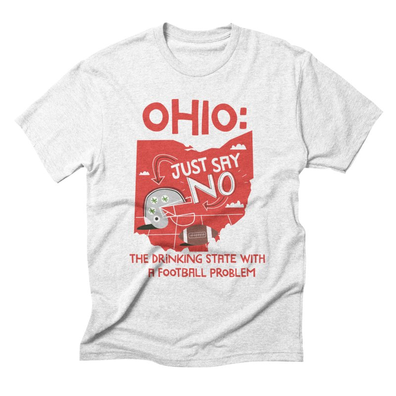 Ohio: The Drinking State With A Football Problem Men's Triblend T-shirt by Vintage Pop Tee's Artist Shop