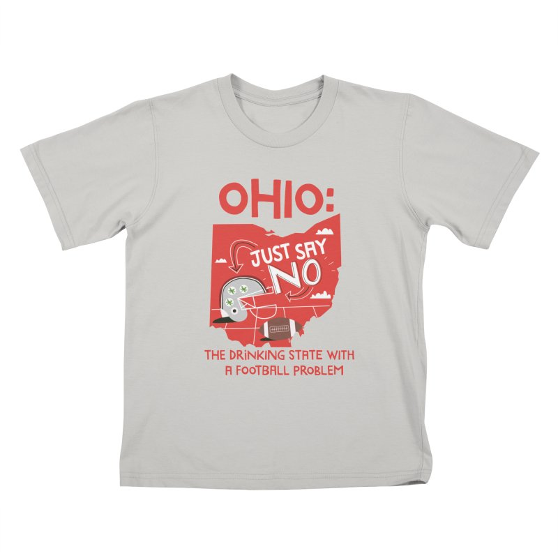 Ohio: The Drinking State With A Football Problem Kids T-shirt by Vintage Pop Tee's Artist Shop