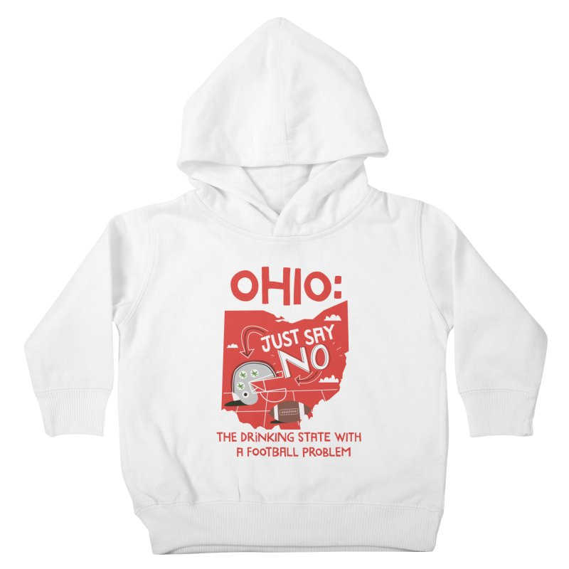 Ohio: The Drinking State With A Football Problem Kids  by Vintage Pop Tee's Artist Shop